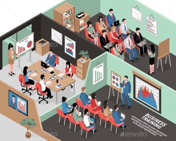Isometric Business Illustration - Concepts Business