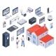 Isometric Smart Home Icon Set