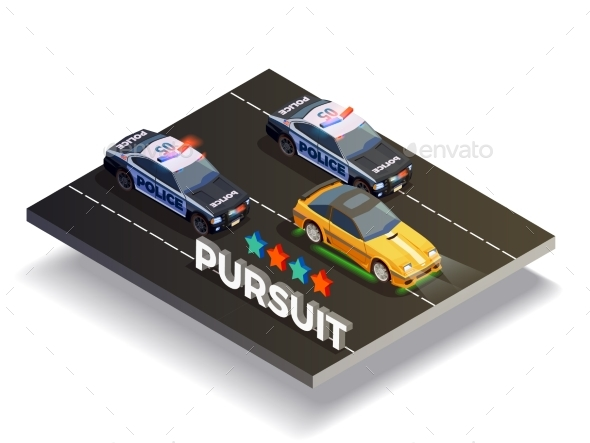 GraphicRiver Pursuit Street Racing Composition 20582569