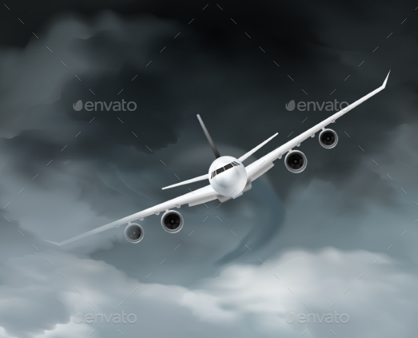GraphicRiver Dark Weather Aircraft Composition 20582757