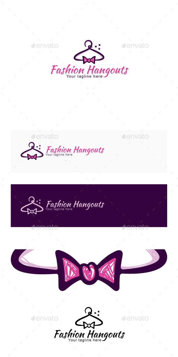 Fashion Hangouts Stock Logo Template - Objects Logo Templates