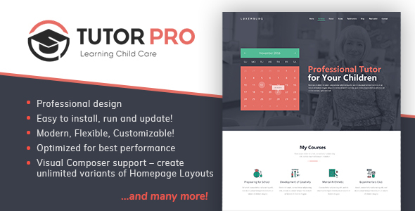 ThemeForest TutorPro Education WordPress Theme 20372292