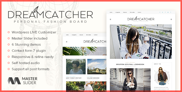Dreamcatcher - Personal WordPress Blog Theme