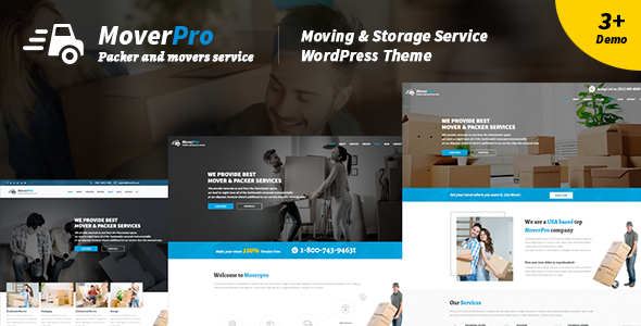 Mover Pro - WordPress Theme for Packers & Movers - Corporate WordPress