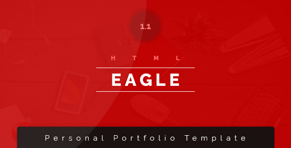 ThemeForest Eagle Personal Portfolio Resume Template 20405590