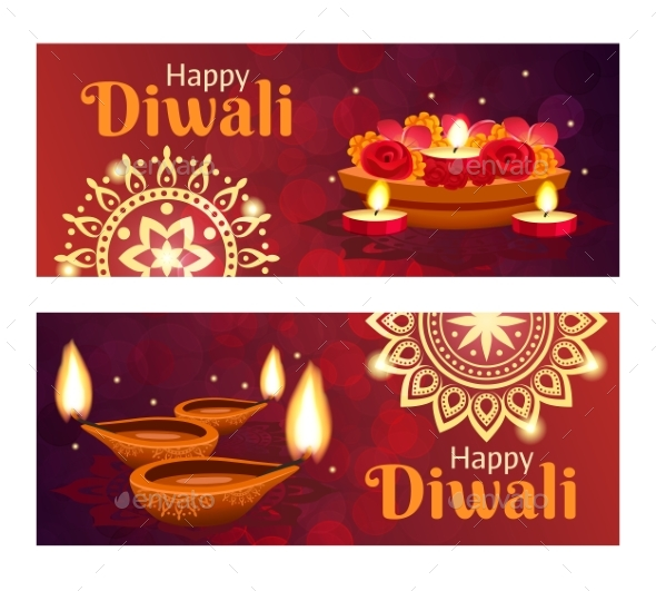 Diwali Banners Set - Miscellaneous Seasons/Holidays