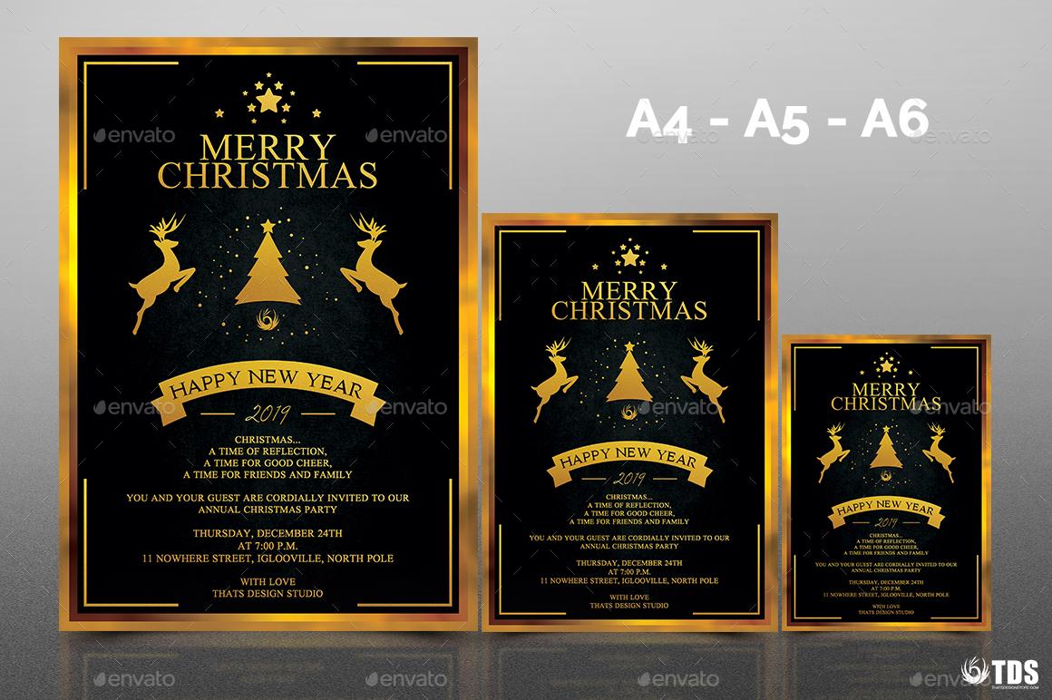 christmas invitation template v3 by lou606