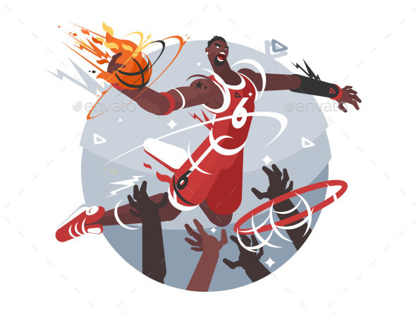 Basketball Player with Ball - People Characters