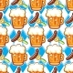 Oktoberfest Beer Seamless Pattern - GraphicRiver Item for Sale