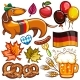 Oktoberfest Vector Set of Icons and Objects - GraphicRiver Item for Sale