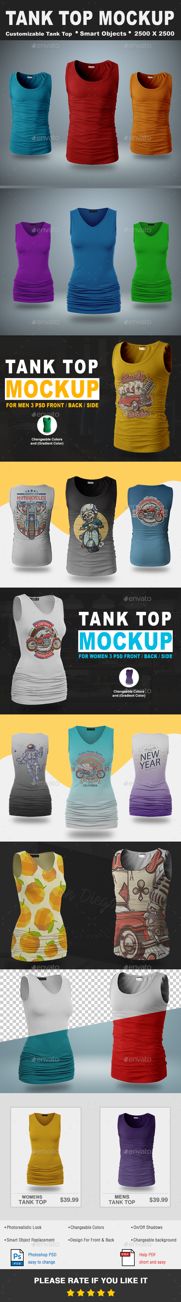 Tank Top Mockup Vol.1 - T-shirts Apparel