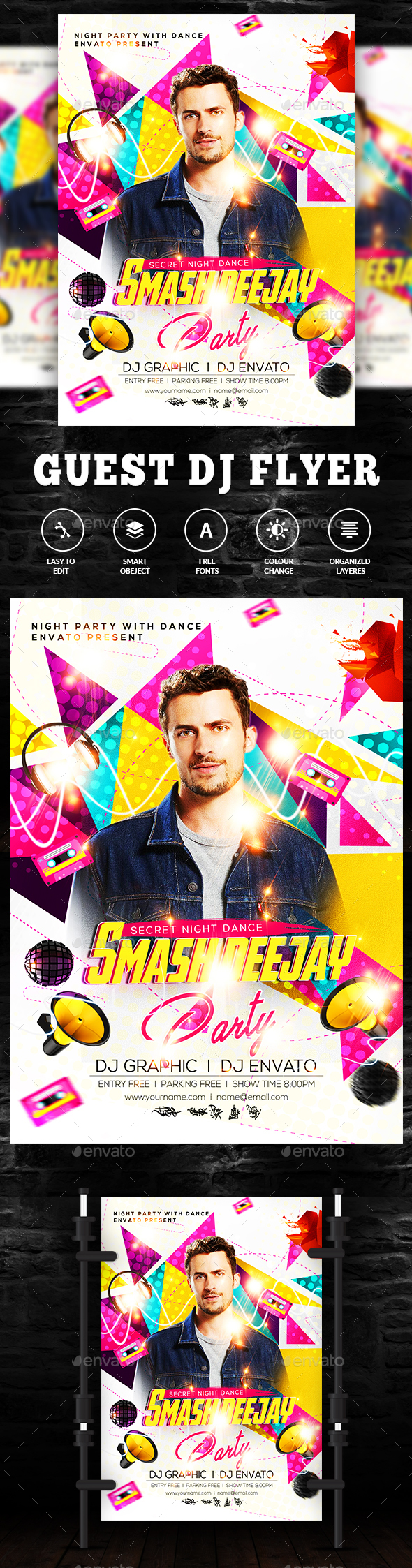 GraphicRiver Club Guest DJ Flyer 20583508