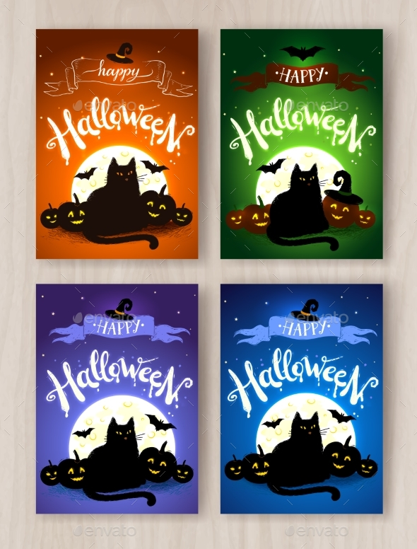 Happy Halloween Postcards Designs Collection - Halloween Seasons/Holidays