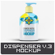 Cosmetic Bottle Dispenser Mock-Up V.3 - GraphicRiver Item for Sale