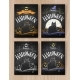 Halloween Color Chalked Postcards Designs