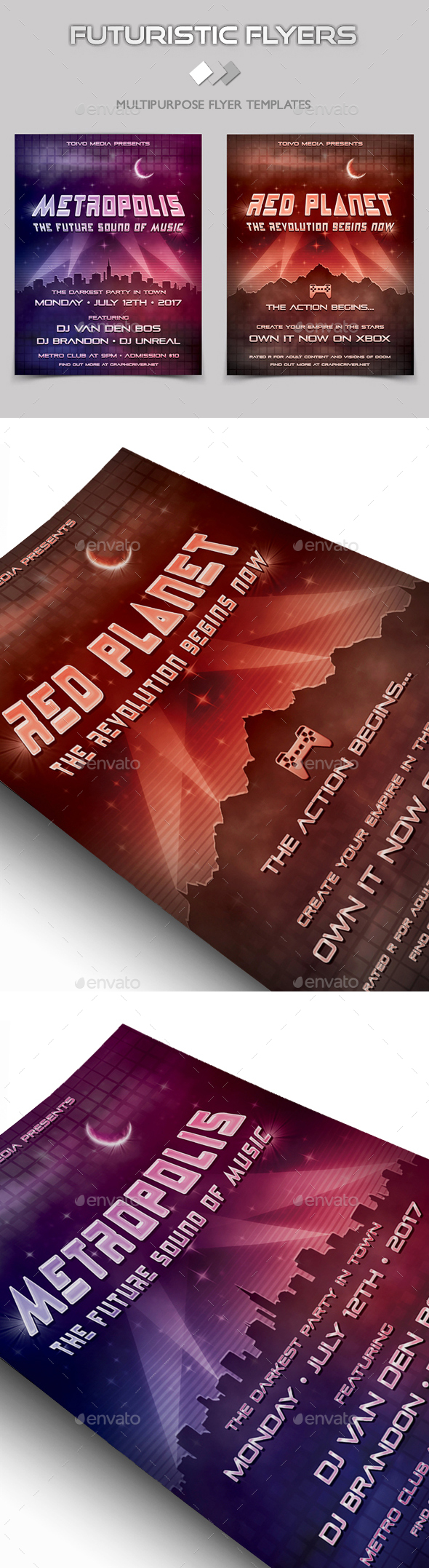 Futuristic Flyers - Clubs & Parties Events