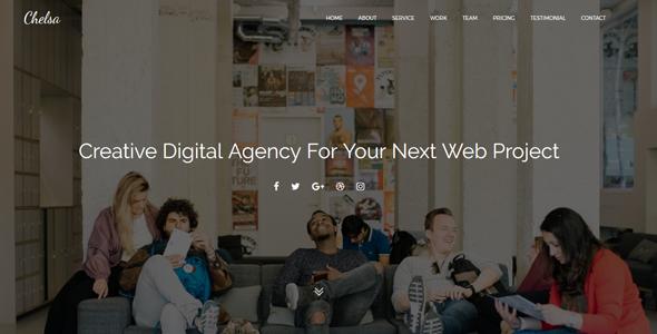 Chelsa - Onepage Agency Portfolio Template - Technology Site Templates