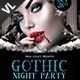 Gothic Night Party Poster / Flyer V01 - GraphicRiver Item for Sale