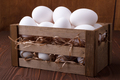 White eggs in a crate