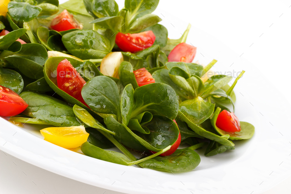 Salad with arugula and spinach - Stock Photo - Images