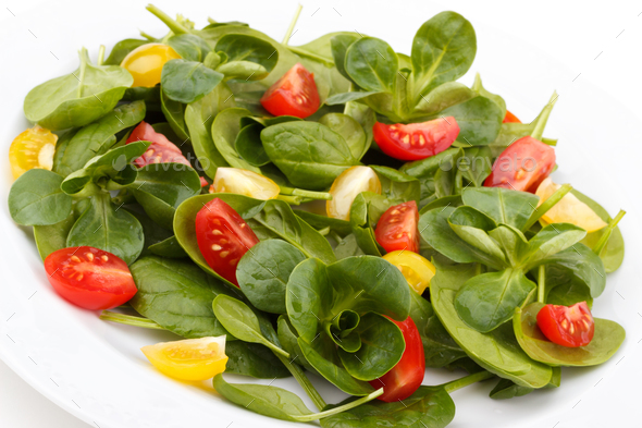 Spinach salad - Stock Photo - Images