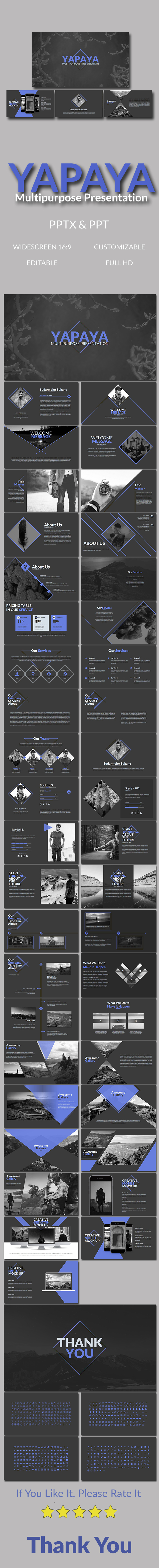 Yapaya Multipurpose Presentation - Abstract PowerPoint Templates