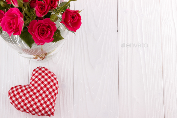 Fabric heart - Stock Photo - Images