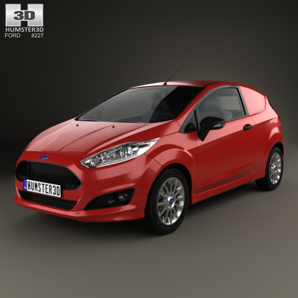 Ford Fiesta Van 2014 - 3DOcean Item for Sale