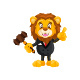 Auction Lion Cartoon Character