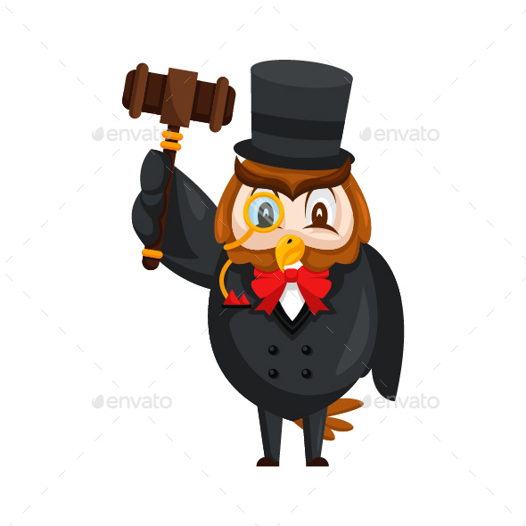 GraphicRiver Auction Owl Cartoon Character 20585063