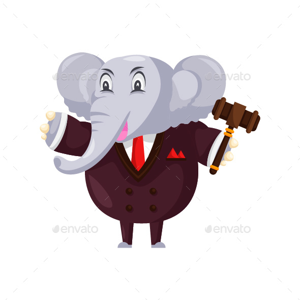 GraphicRiver Auction Elephant Cartoon Character 20585073