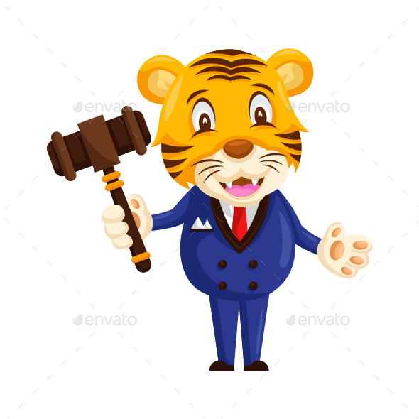 GraphicRiver Auction Tiger Cartoon Character 20585087