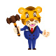 Auction Tiger Cartoon Character