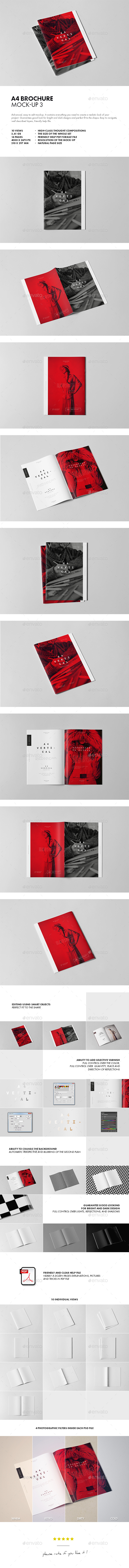A4 Brochure Mock-up 3 - Brochures Print