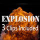 Explosion on a Black Background - VideoHive Item for Sale