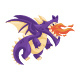 Flying Purple Dragon Illustration