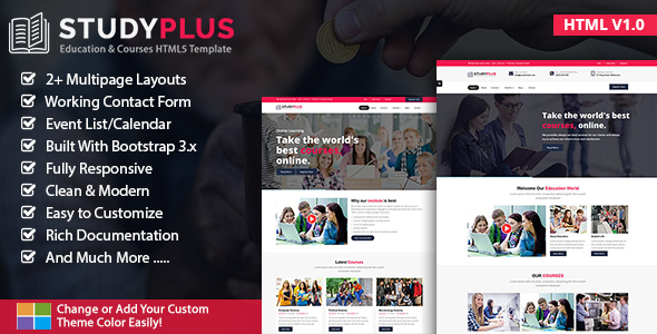 StudyPlus - Education & Courses HTML5 Template