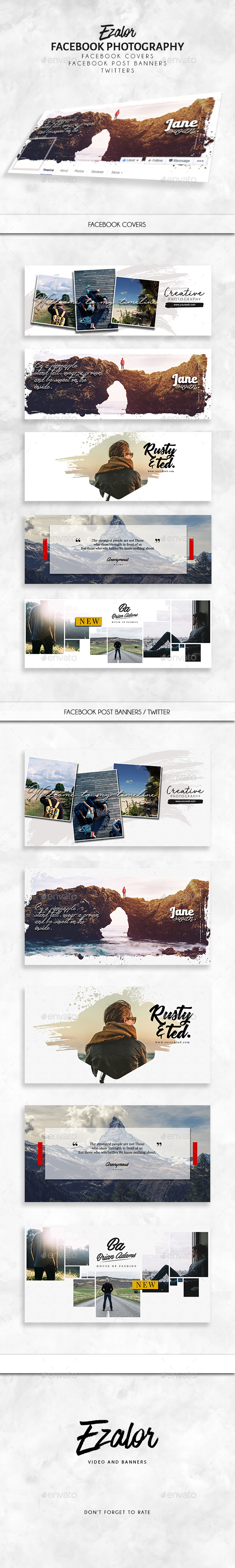 Facebook Set - Facebook Timeline Covers Social Media