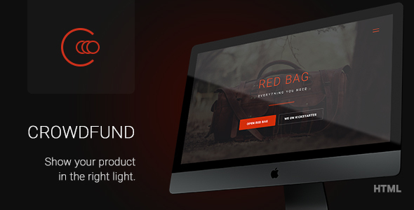 Crowdfund - One Page Marketing Template for Startups, Services and Crowdfunding Projects