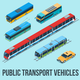 Isometric Public Transport Vehicles - GraphicRiver Item for Sale