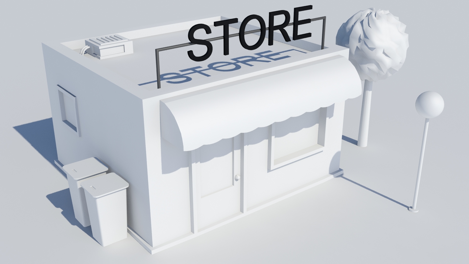 Low poly building - Store