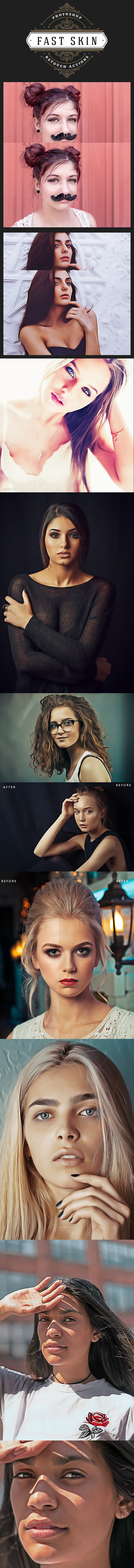 GraphicRiver Fast Skin Retouch Photoshop Actions 20586157