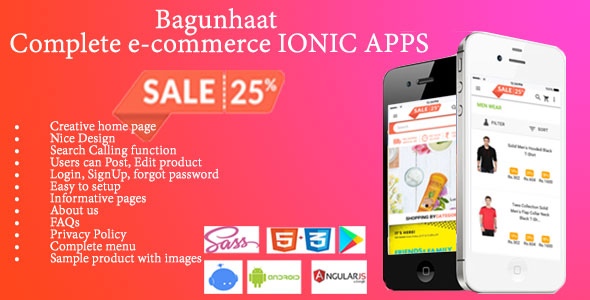 Bagunhaat– Complete e-commerce IONIC APPS - CodeCanyon Item for Sale
