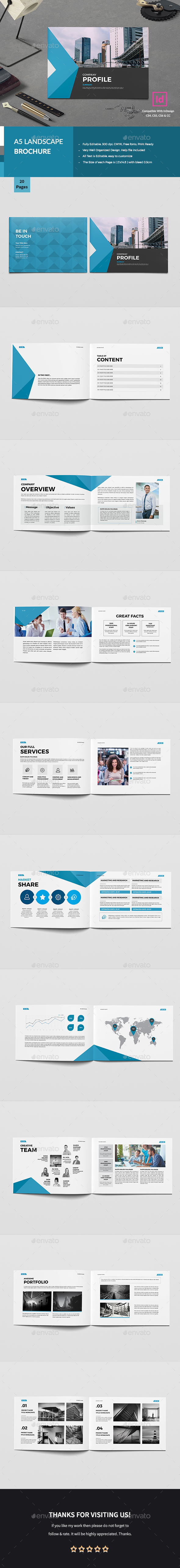 GraphicRiver A5 Business Company Brochure 20586579