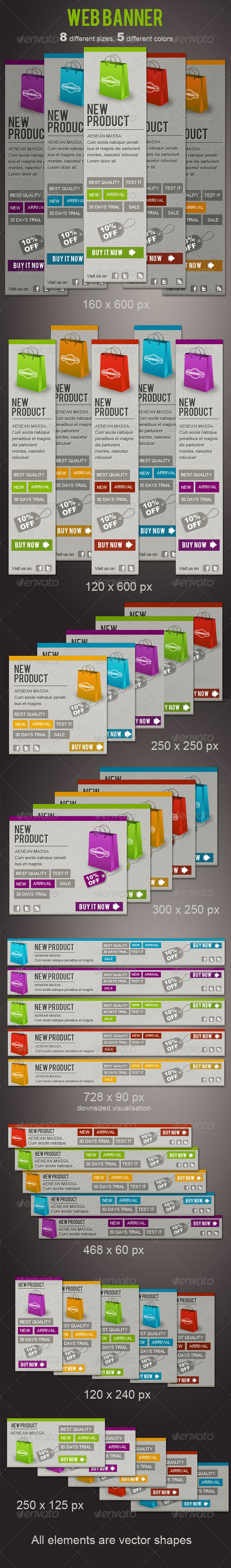 Fresh Web Banners - Banners & Ads Web Elements