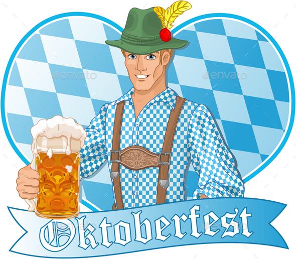 Oktoberfest Guy - Characters Vectors