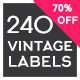 240 Vintage Labels & Badges Logos Collection