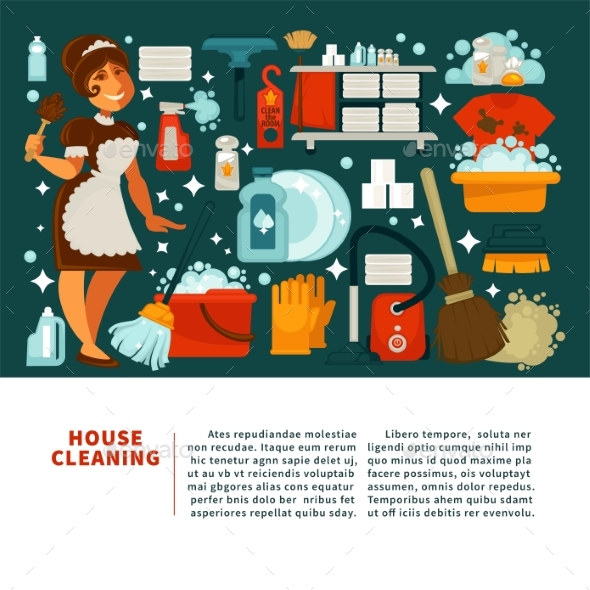 House Cleaning Service Promotional Banner - Landscapes Nature