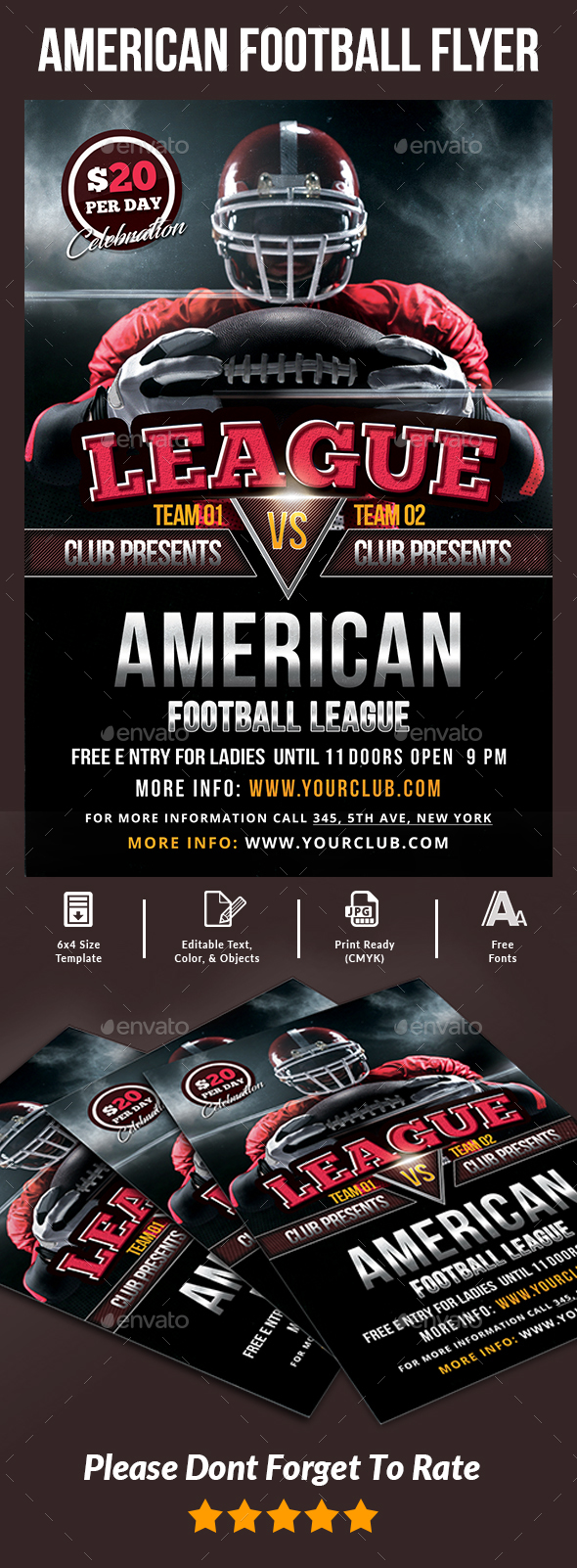 American Football Flyer - Events Flyers