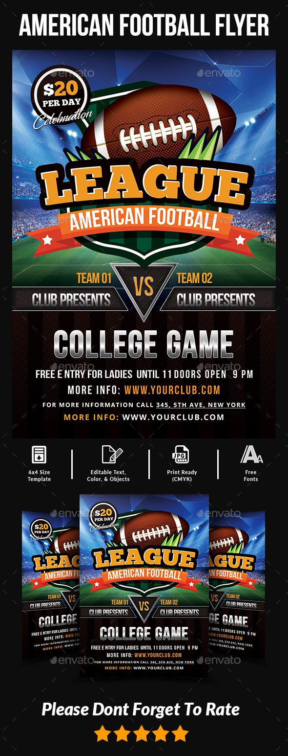American Football Flyer Templates - Events Flyers